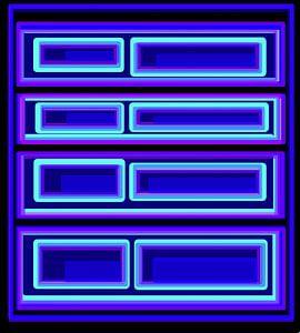 Geometrie blaue Quadrate von Romana Vaclavikova