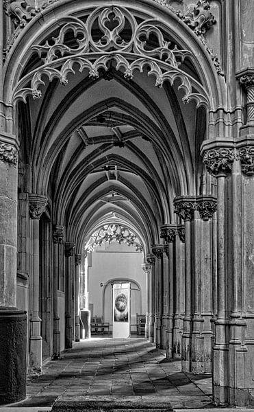 St. Joriskerk historisch Amersfoort in zwartwit van Watze D. de Haan