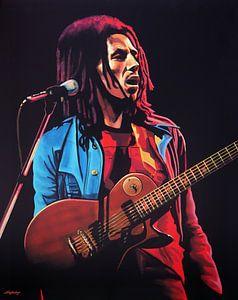 Fototapete Vlies Tapete Reggae Musik Rastafari Bob Marley Sänger Gitarrist Neu