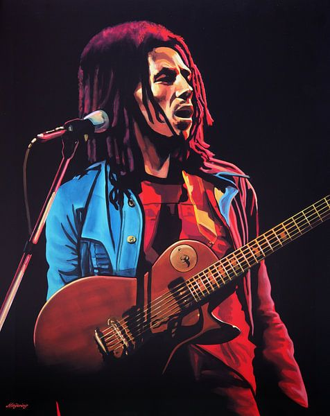 Bob Marley schilderij van Paul Meijering