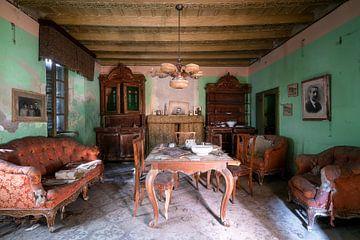 Verlaten Vintage Woonkamer. van