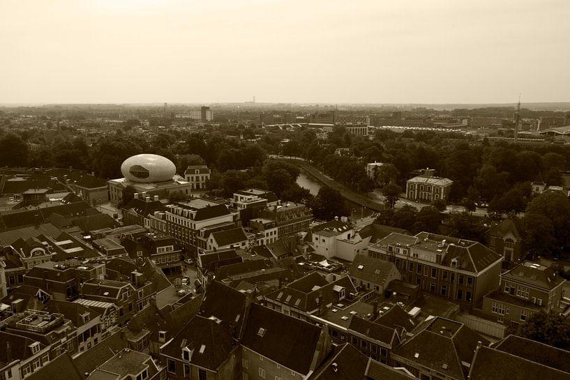 Zwolle vanaf de Peperbus II van mono chromie