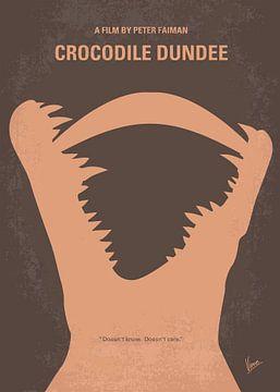 No210 My Crocodile Dundee minimal movie poster van Chungkong Art