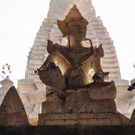 Shiva met duif bij ondergaande zon van Affect Fotografie
