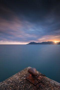 Sonnenuntergang über der Bucht von Cannes