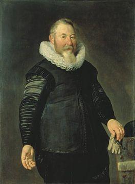 Portrait d'un homme tenant un gant, Thomas de Keyser