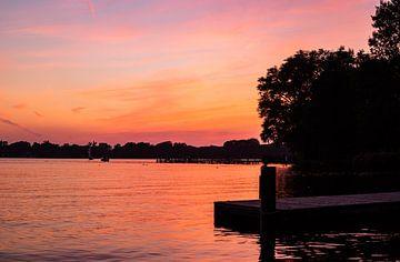Ruhig Bunter Sonnenuntergang Kralinger See von Deborah de Meijer
