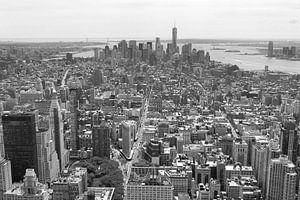 Manhattan vanuit de 'lucht' van