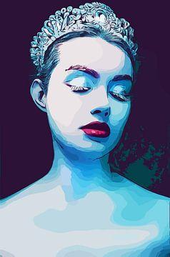 Eiskönigin/Schnee-Prinzessin von The Art Kroep