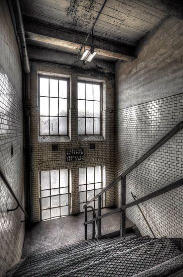 Stairs in old mining building. van Patrick LR Verbeeck
