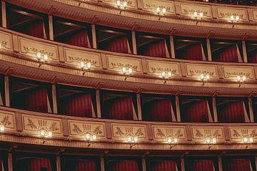 Het interieur van de Weense Staatsopera van Sophia Eerden