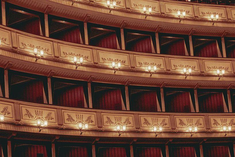 Das Innere der Wiener Staatsoper von Sophia Eerden