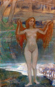 nacktes Mädchen am Seeufer, LUDWIG VON HOFMANN, ca. 1890 von Atelier Liesjes