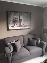 Klantfoto: Stilleven 30 van Ron jejaka art, op canvas