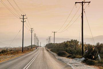 Eilandweg op Naxos van Ronnie Reul