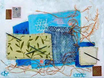 Collage textuur van Lida Bruinen