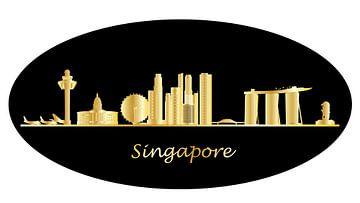 skyline singapur-stadt in asien mit hochhäusern und hotels von Compuinfoto .