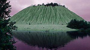 Buitenaardse berg van kalksteen in Estland
