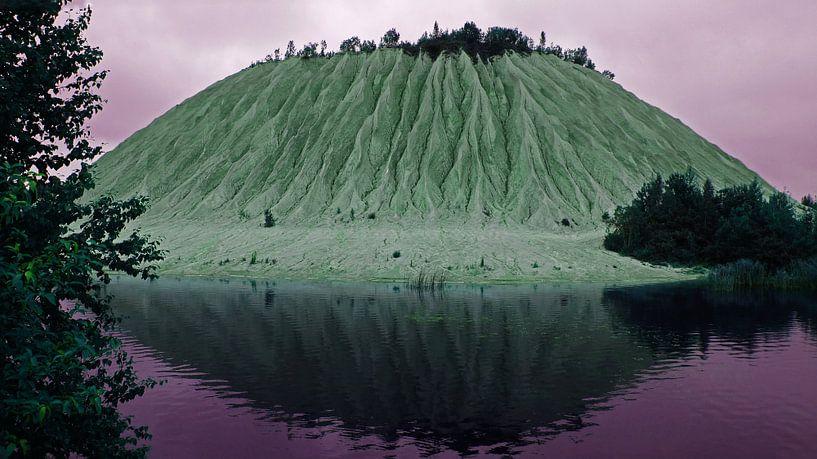Buitenaardse berg van kalksteen in Estland van Aagje de Jong