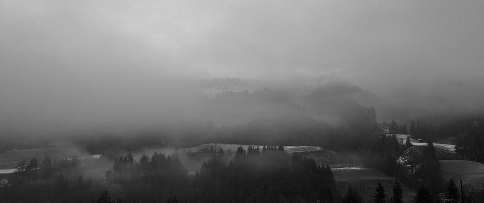 Mistige berg