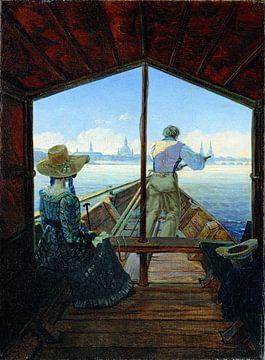 Carl Gustav Carus.Schifffahrt auf der Elbe