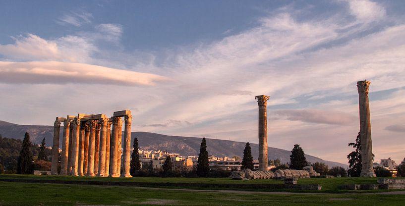 tempel van de Olympische Zeus van Dennis just me
