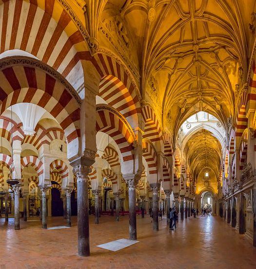 De zuilenhal van de moskee - kathedraal, Mezquita-catedral de Cordoba