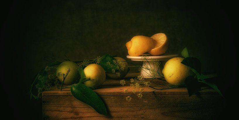 Stilleven citroenen van Monique van Velzen
