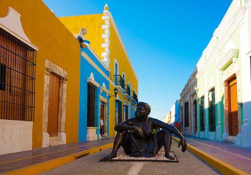 Kunst in de stad Campeche - Mexico van Joris Pannemans