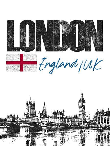 Londen Engeland van Printed Artings