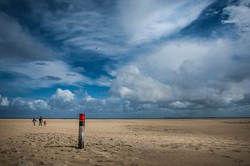 Wandeling langs het strand van