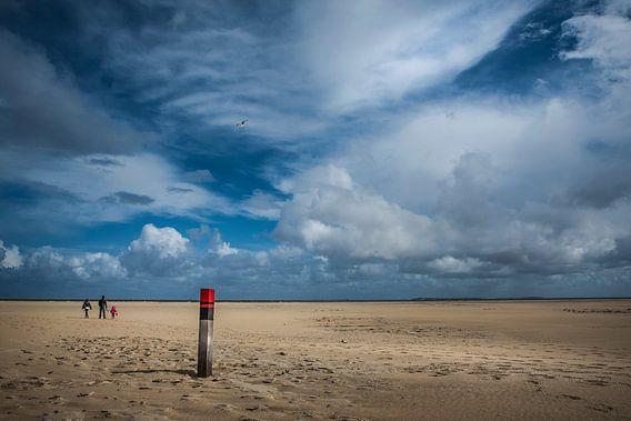 Wandeling langs het strand