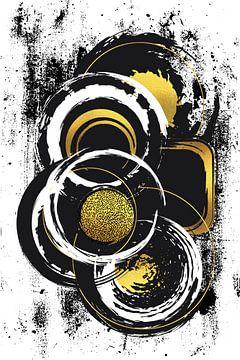 Abstrakte Malerei Nr. 51 | gold von Melanie Viola