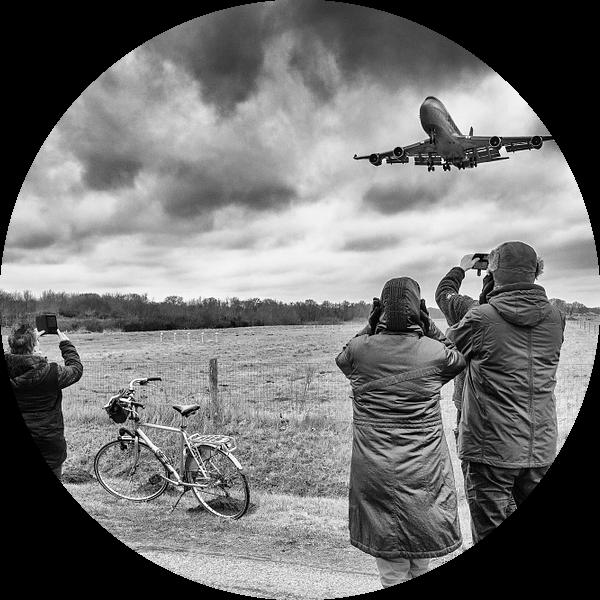 Eerste landing Boeing 747-400 op Groningen Airport van Evert Jan Luchies