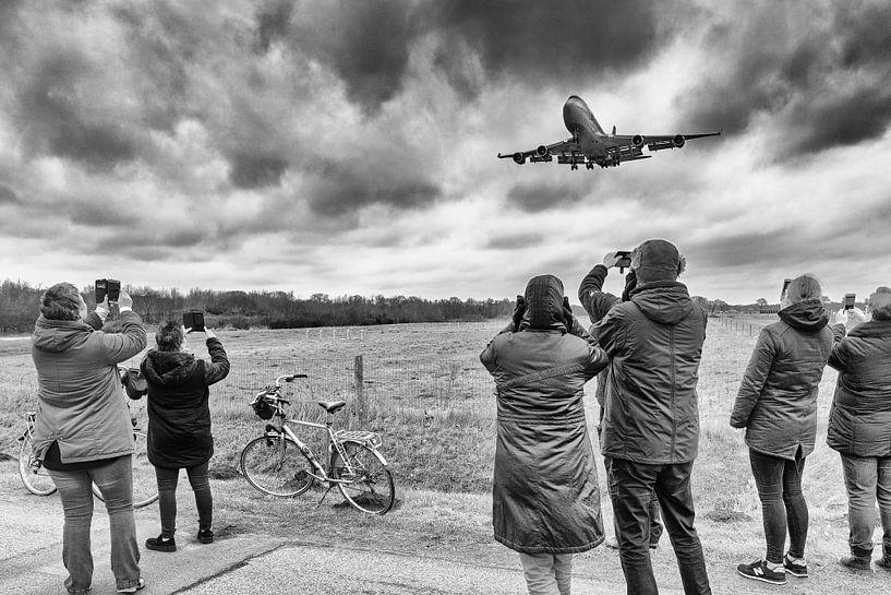 Premier atterrissage Boeing 747-400 à l'aéroport de Groningen sur Evert Jan Luchies