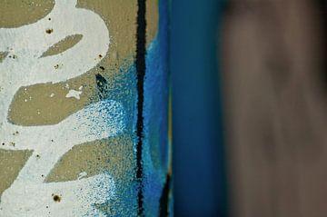 Graffiti Blau-Weiß von Agnes Meijer