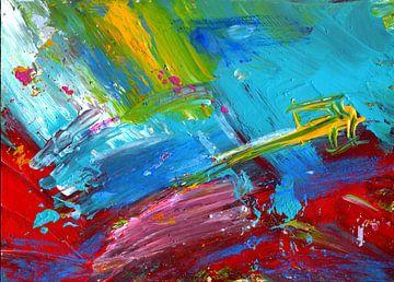 """Abstrakte Malerei """" Beschleunigung """" von Claudia Gründler"""