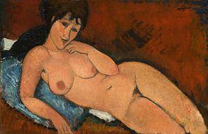 Akt auf einem blauen Kissen, Amedeo Modigliani
