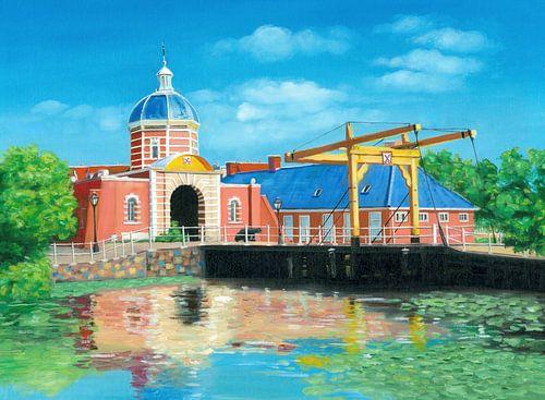 Leiden Morspoort Schilderij  van Kunst Company