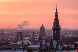Academietoren Groningen in de Winter von Frenk Volt