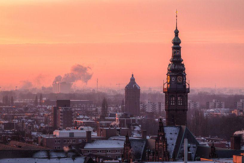 Academietoren Groningen in de Winter van Frenk Volt