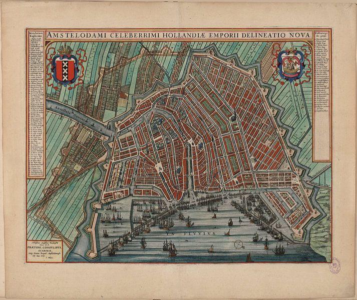 Amsterdam, Stadtplan Joan Blaeu 1652 von Atelier Liesjes