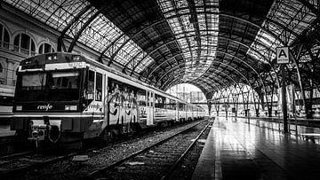 Trein in Barcelona von Rick Wiersma