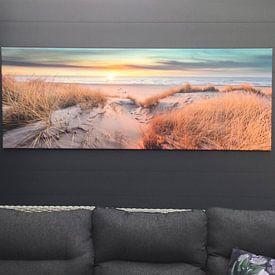 Kundenfoto: Pole 17 Texel Sonnenuntergang Panorama von Texel360Fotografie Richard Heerschap, auf leinwand