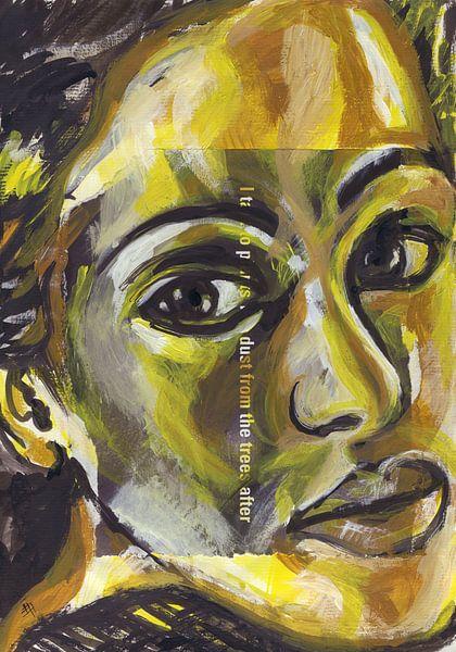 Vrouw met een gouden hart van ART Eva Maria
