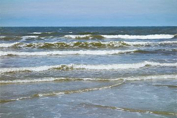 Lagen Golven van de Noordzee - III - Schilderij