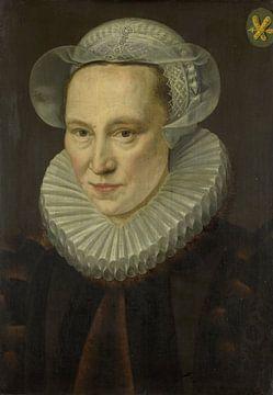 Porträt von Grietje Pietersdr Codde (gestorben 1607), Adriaen Thomasz. Schlüssel, 1586