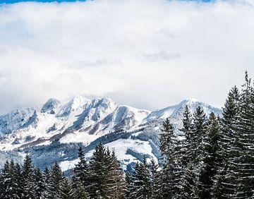 Sneeuw bergen in de Alpen van Ivo de Rooij