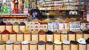 Specerijen markt  in Dubai van