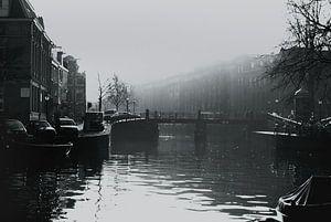 Prinsengracht in de mist /  Amsterdam  van